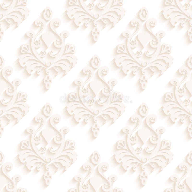 Sömlös textur tapetserar i stilen av barock modern illustration arkivfoton