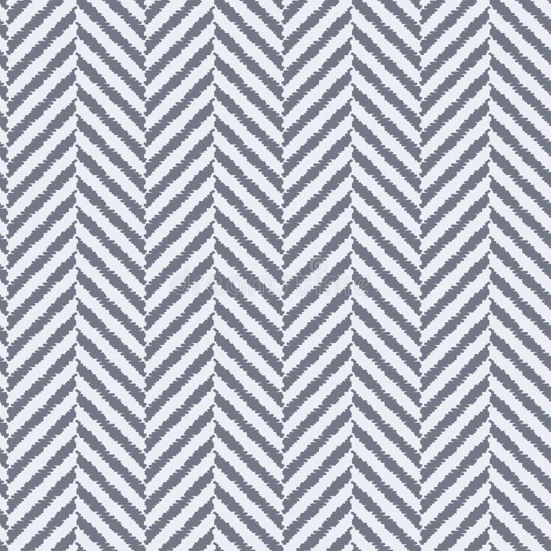 Sömlös texturerad fiskbensmönstertygmodell royaltyfri illustrationer