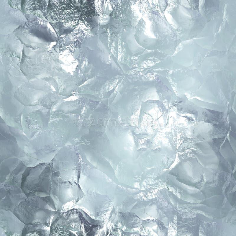 Sömlös tileable istextur djupfryst vatten royaltyfria bilder