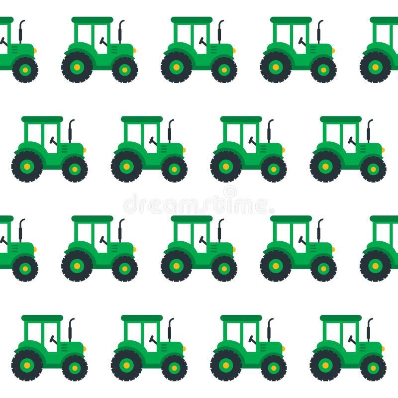 Sömlös traktor vektor illustrationer