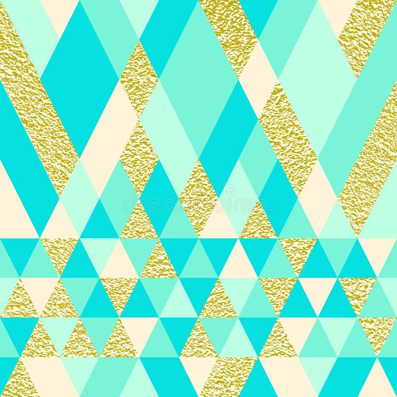 Sömlös triangelmodell royaltyfri illustrationer