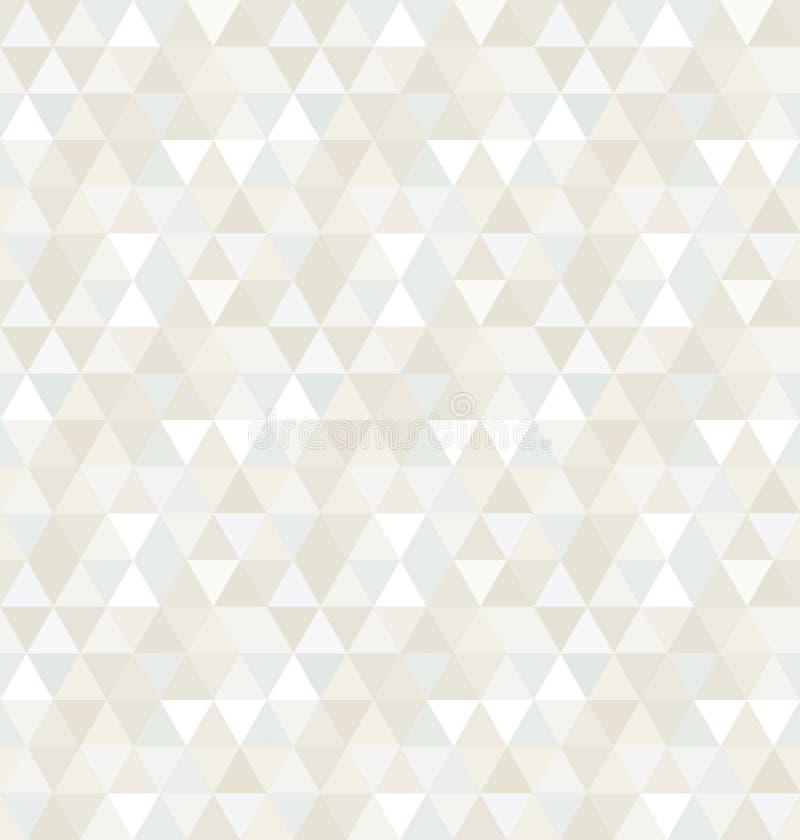 Sömlös triangelmodell, bakgrund, textur stock illustrationer