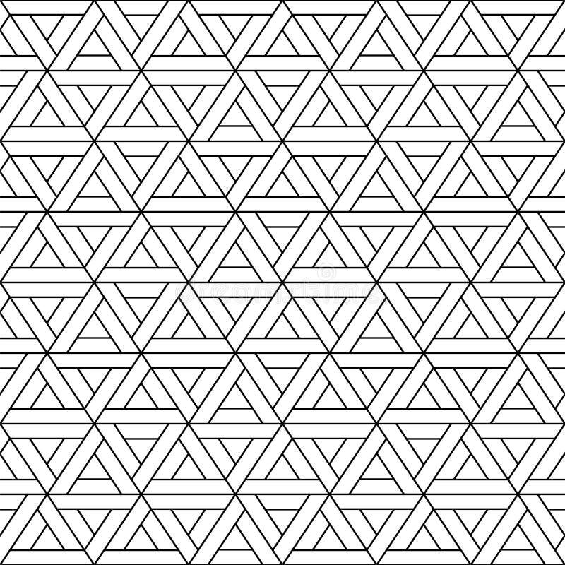 Sömlös triangelmodell för vektor - geometrisk design moderiktig abstrakt bakgrund Idérik textur för raster stock illustrationer