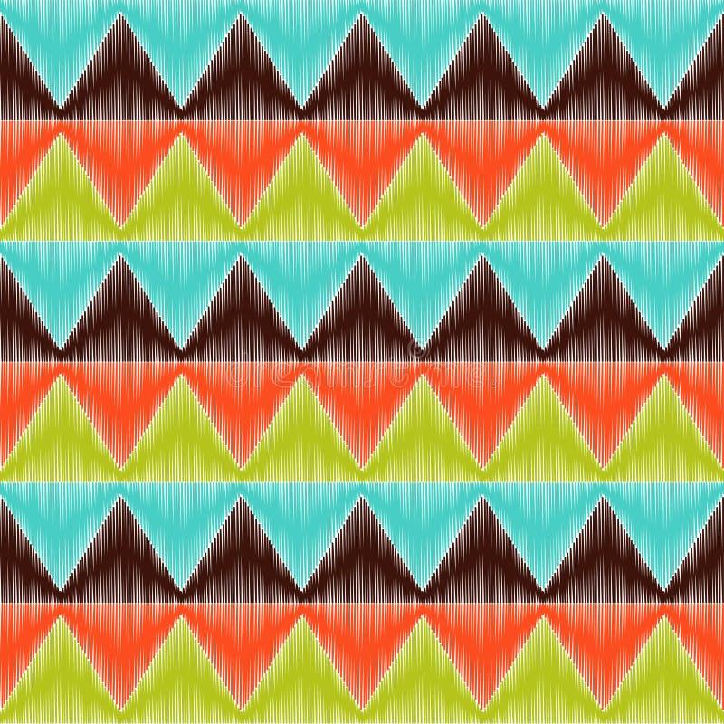 Sömlös triangeltegelplattamodell royaltyfri illustrationer