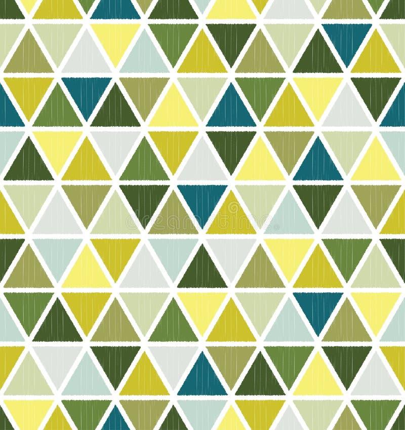 Sömlös triangeltegelplattamodell vektor illustrationer