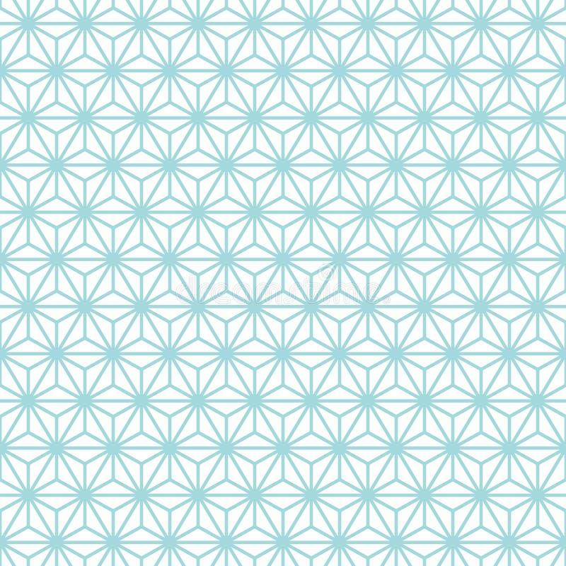 Sömlös turkos och vit för modellrasterstjärnor stock illustrationer