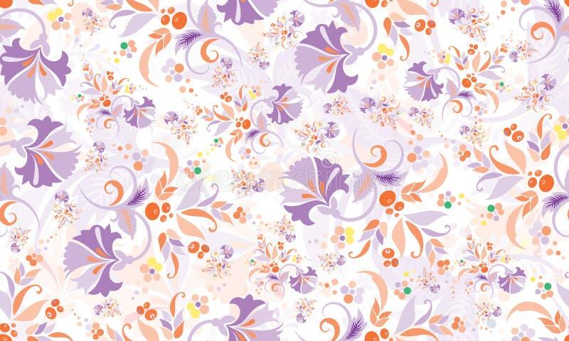 Sömlös upprepande blom- modell stock illustrationer