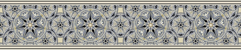 Sömlös upprepande modell för gränsdesign royaltyfri illustrationer