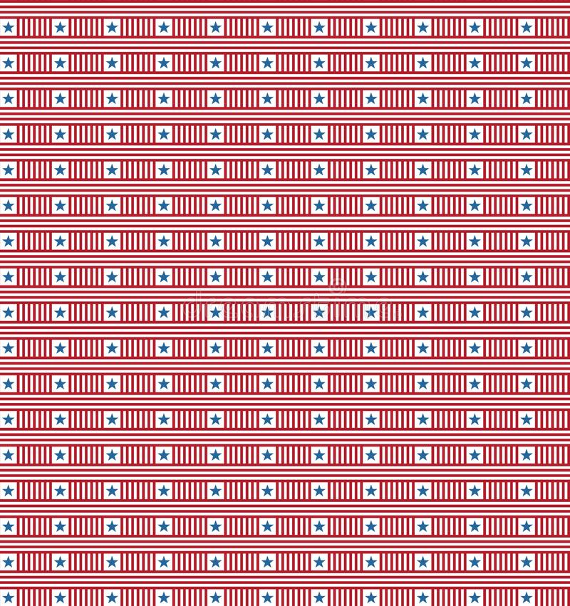 Sömlös upprepande självständighetsdagenmodell vektor illustrationer