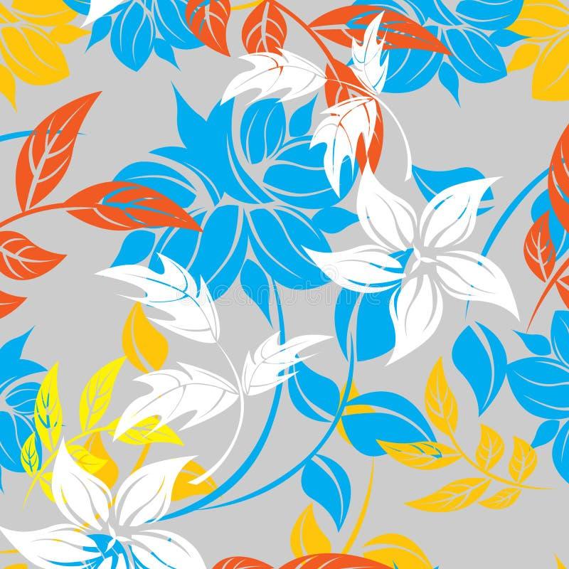 Sömlös vårblommaillustration royaltyfri illustrationer