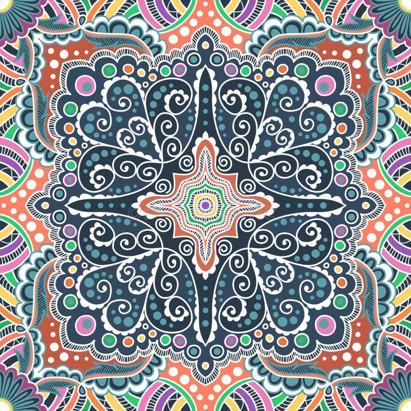 Sömlös varicolored modell för vektor av spiral stock illustrationer