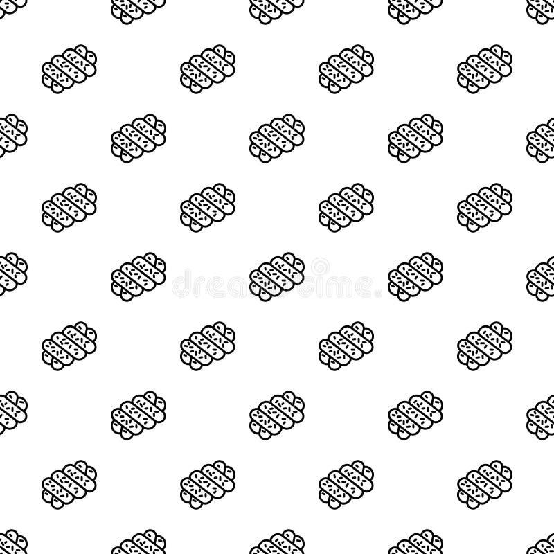 Sömlös vektor för judisk bagerimodell vektor illustrationer