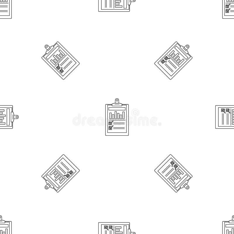 Sömlös vektor för kontrollistagrafmodell stock illustrationer