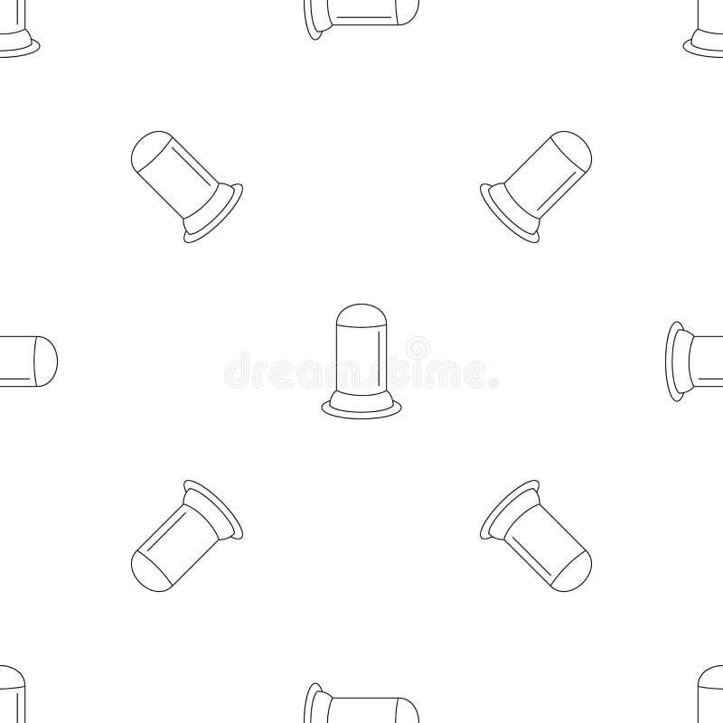 Sömlös vektor för livmoderkondommodell royaltyfri illustrationer