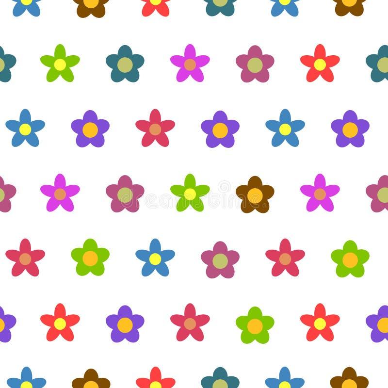 Sömlös vektorbakgrund för färgrik blomma stock illustrationer
