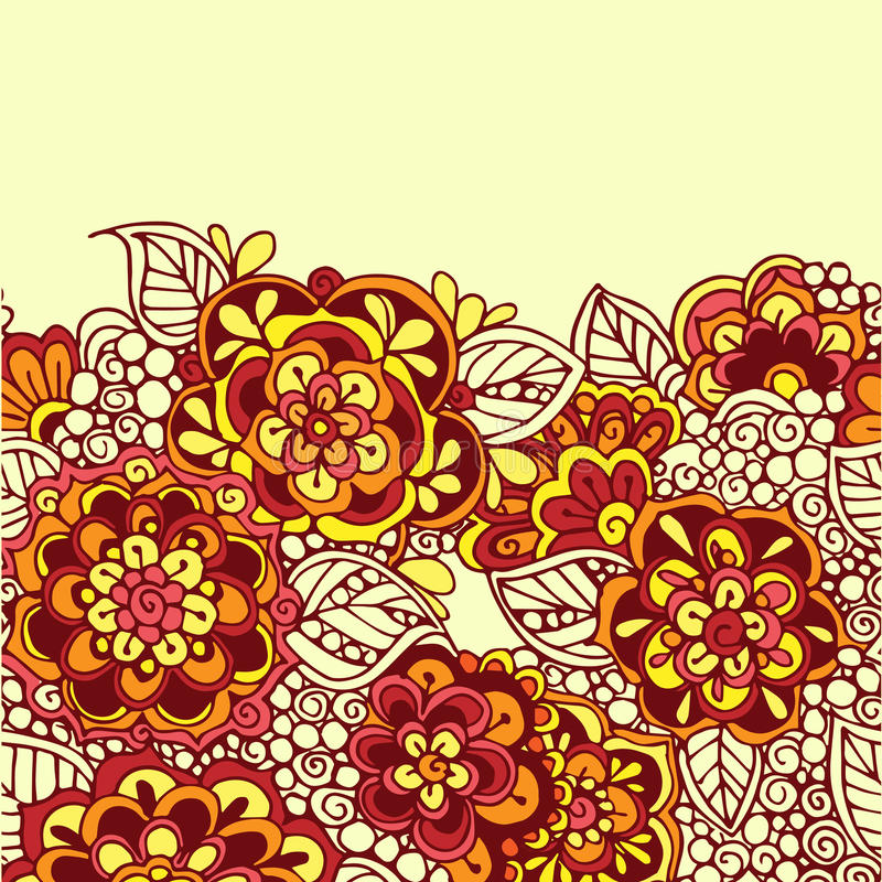 Sömlös vektorklotterbakgrund royaltyfri illustrationer