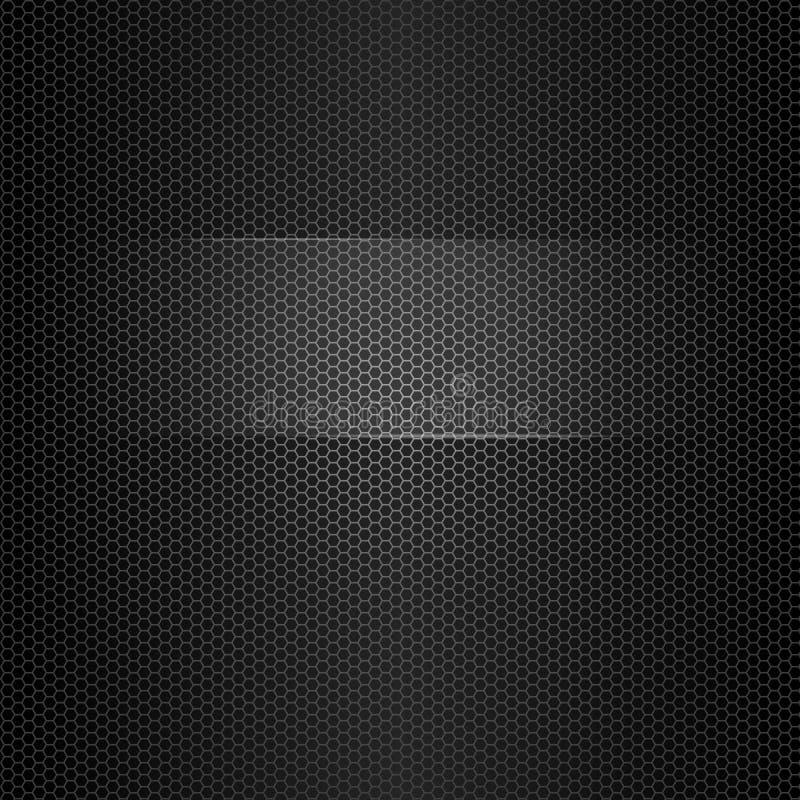 Sömlös vektormetalltextur med den markerade ramen för text vektor illustrationer