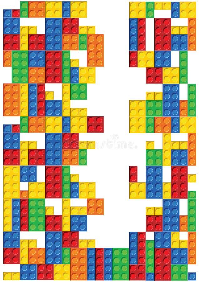 Sömlös vektormodell av plast- delar stock illustrationer