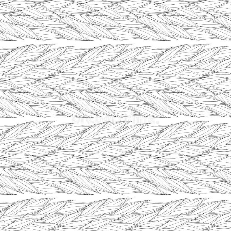 Sömlös vektormodell av vävde samman sidor stock illustrationer