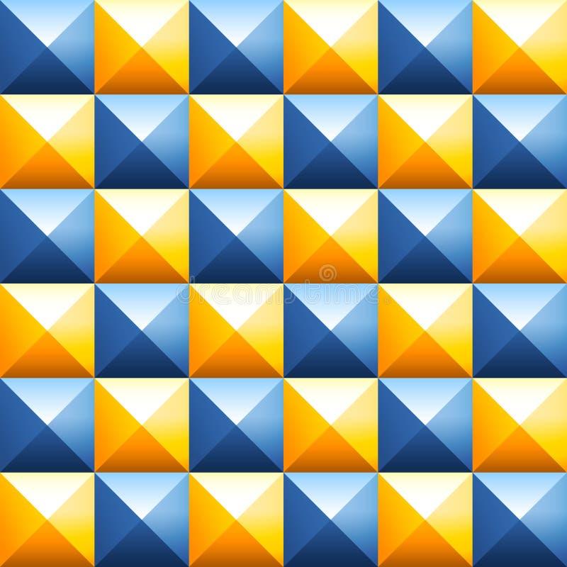 Sömlös vektormodell för färgrika pyramider vektor illustrationer