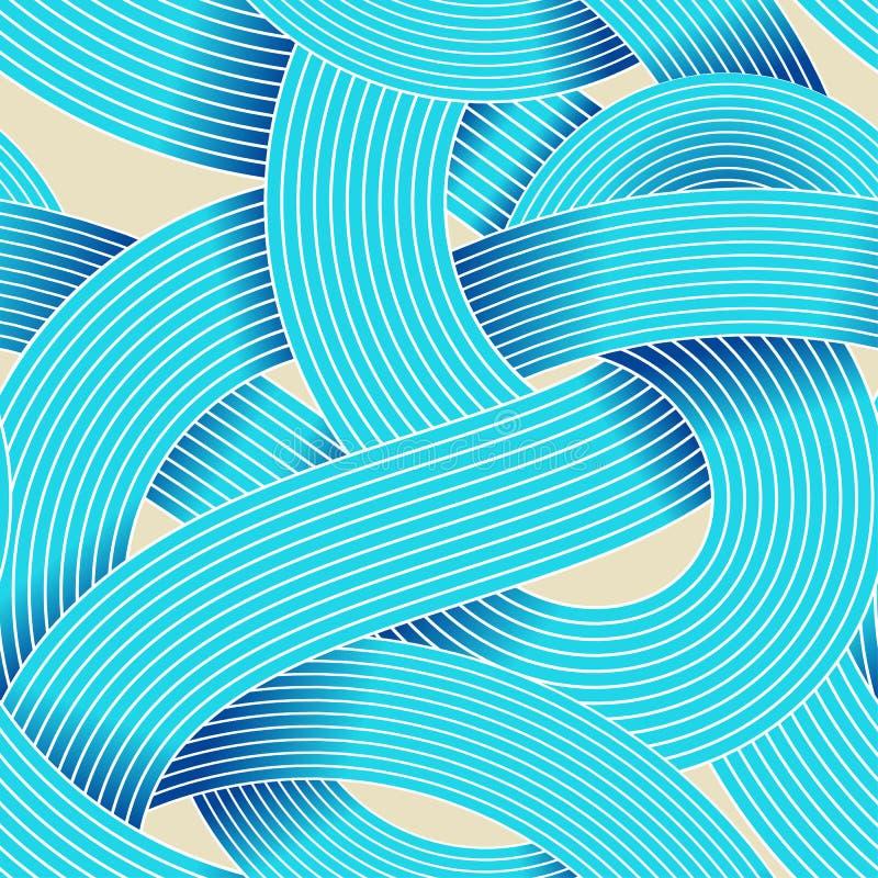 Sömlös vektormodell för op konst Randig vågabstrakt begreppbakgrund Optisk illusion av volym Moirelinjer vektor illustrationer