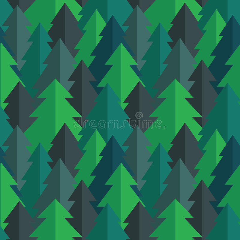Sömlös vektormodell för plan pinjeskog vektor illustrationer