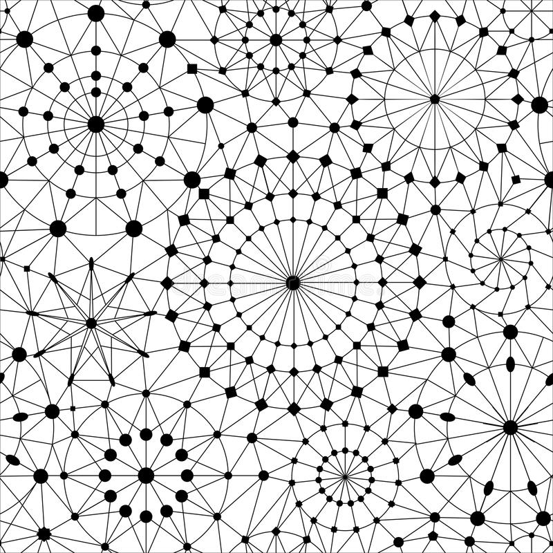 SÖMLÖS VEKTORMODELL FÖR STJÄRNKLAR HIMMEL GEOMETRISK TEXTUR FÖR ASTRONOMI stock illustrationer