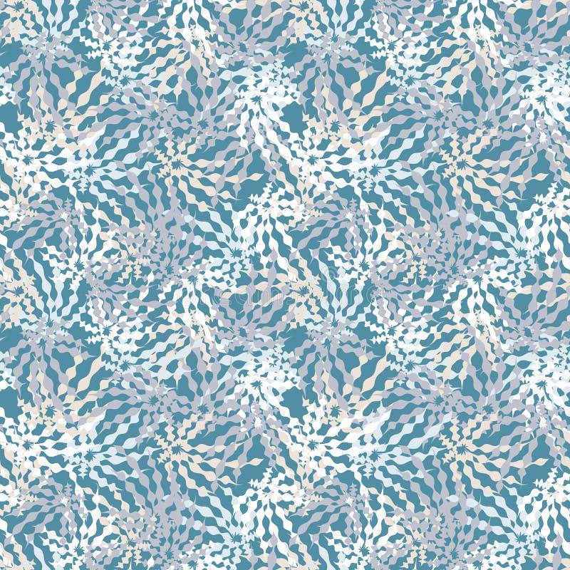 Sömlös vektormodell med abstrakta orgaincformer i gråaktiga färger vektor illustrationer