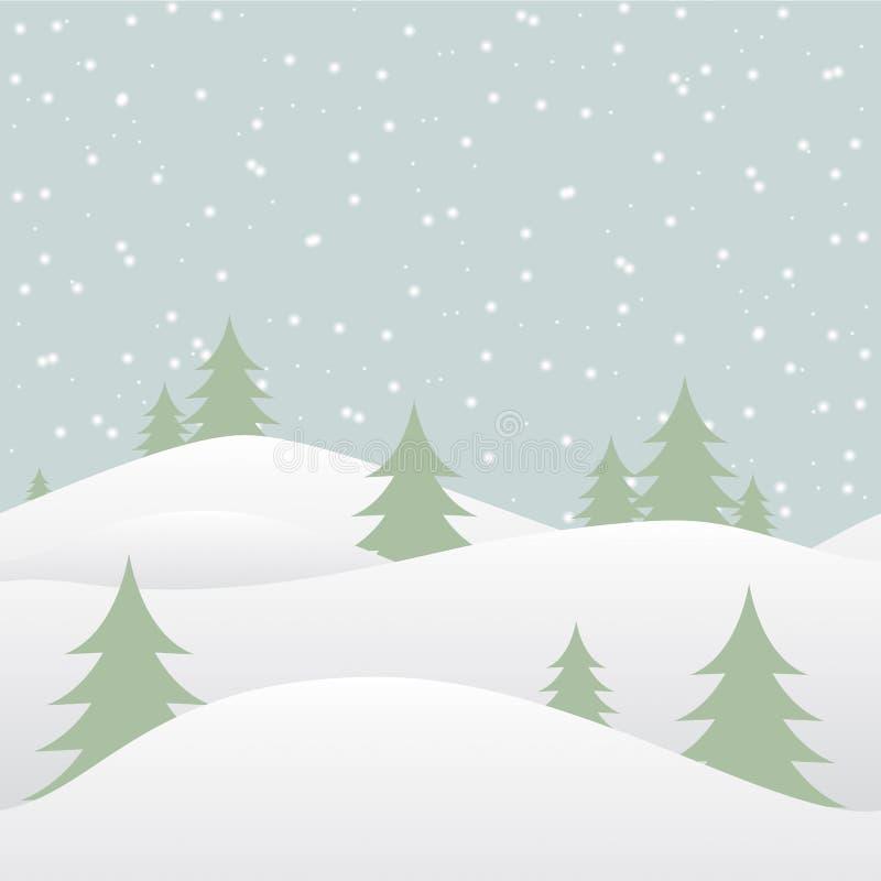 Sömlös vinterbakgrund med fallande snö stock illustrationer