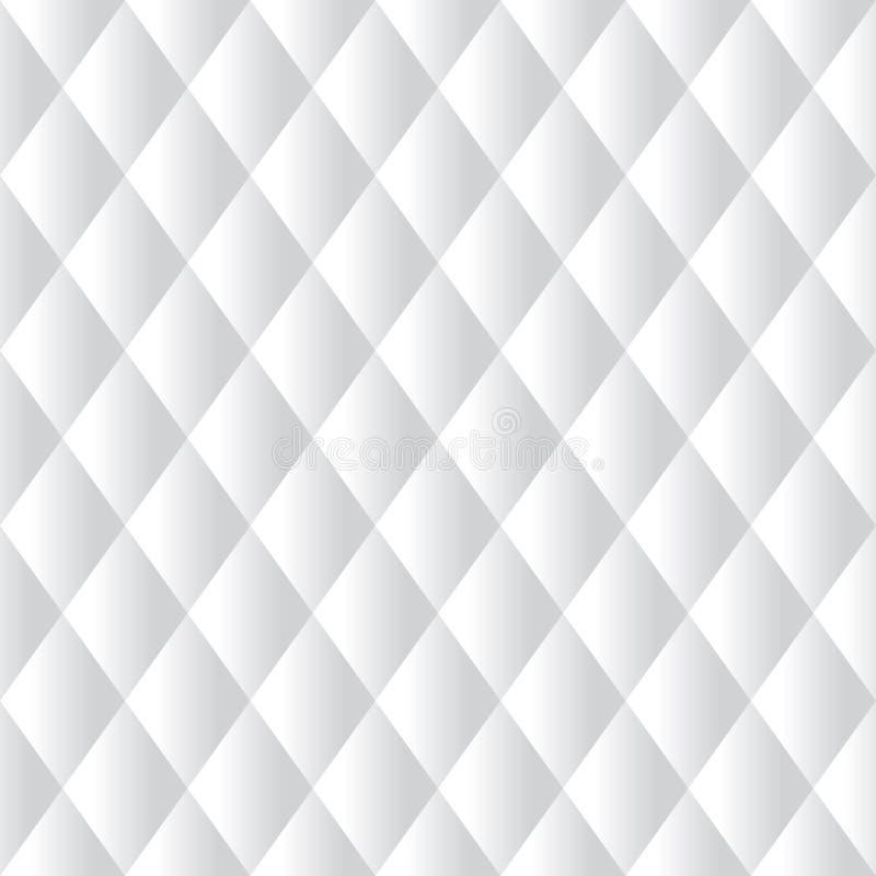 Sömlös vit vadderad stoppningmodellbakgrund vektor illustrationer