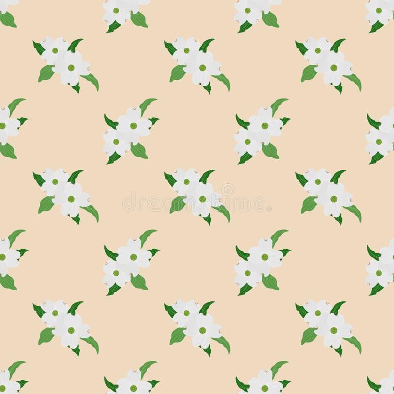 Sömlös whi för växt för blad för blomma för bakgrundsbild färgrik botanisk vektor illustrationer
