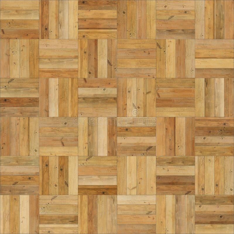 Sömlös wood färg för sand för parketttexturschack royaltyfri fotografi