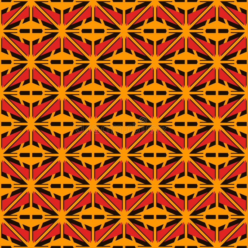 Sömlös yttersidamodell för afrikansk stil med abstrakta diagram Geometriska former för ljus person som tillhör en etnisk minorite royaltyfri illustrationer