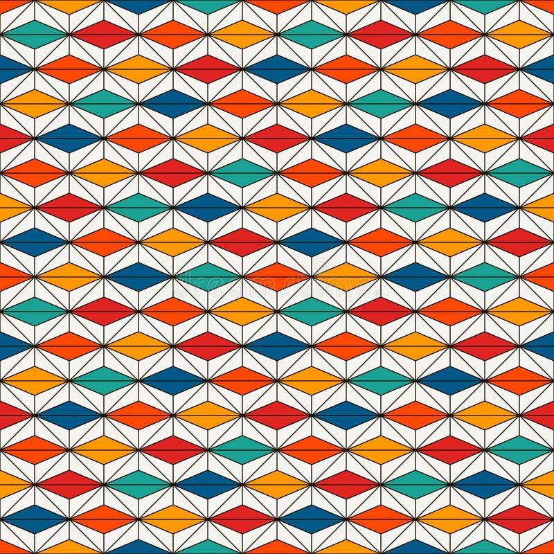 Sömlös yttersidamodell för afrikansk stil med abstrakta diagram Ljust etniskt tryck geometriskt dekorativt för bakgrund vektor illustrationer