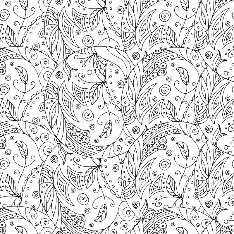 Sömlös zentangle royaltyfri illustrationer