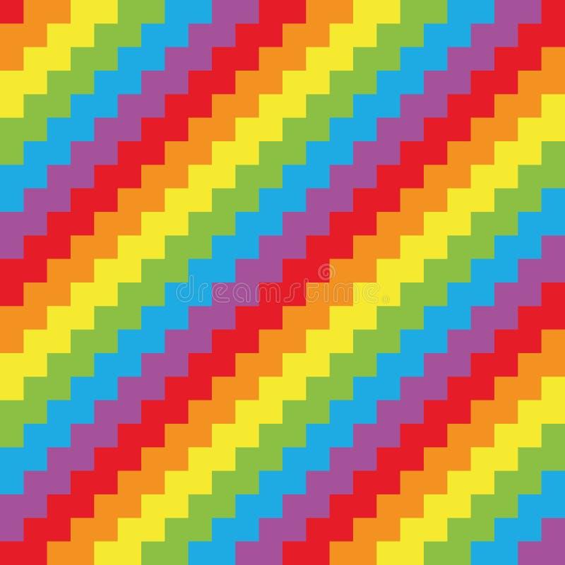 Sömlösa bakgrundschevronmönster i radiofrekvensfärger Extraherad vektorillustration royaltyfri illustrationer