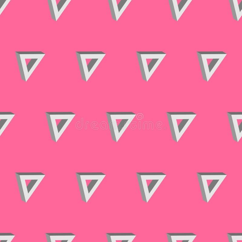 sömlösa bakgrundsrosa färger för triangel 3d royaltyfri illustrationer