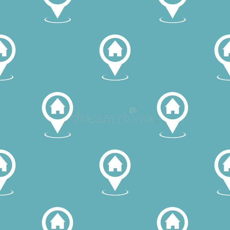 Sömlösa blått för hem- översiktspekaremodell stock illustrationer
