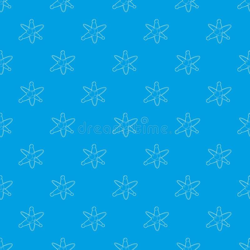Sömlösa blått för molekylmodellvektor royaltyfri illustrationer