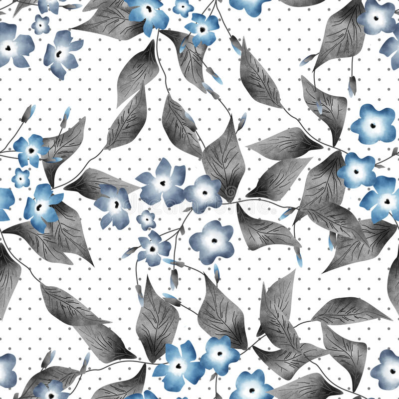 Sömlösa blom- retro modellbakgrundsblommor smyckar textil stock illustrationer