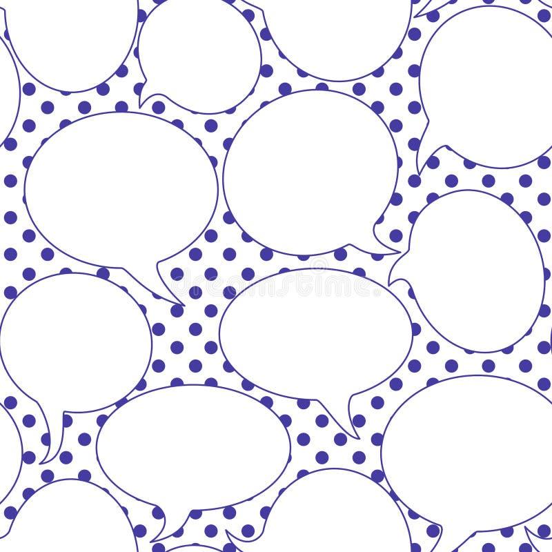 Sömlösa bubblor för anförande för popkonst vektor illustrationer