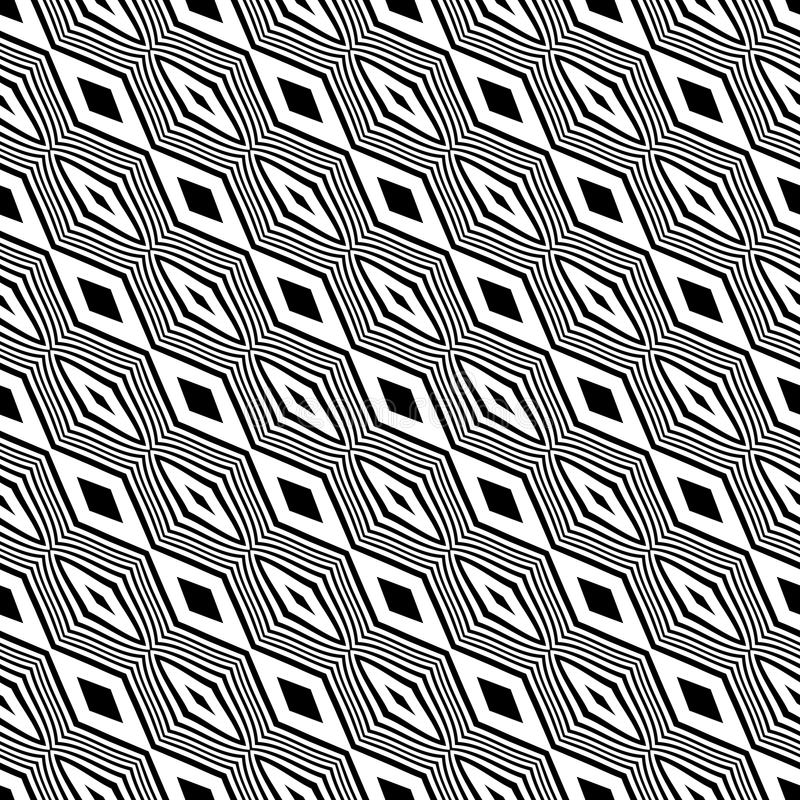 Sömlösa diagonala linjer svartvit modell för vektor abstrakt bakgrundswallpaper också vektor för coreldrawillustration Räkningar  royaltyfri illustrationer