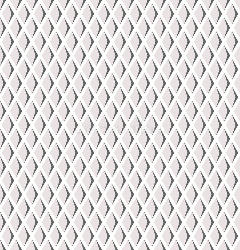 Sömlösa diamanter latticed modell royaltyfri illustrationer