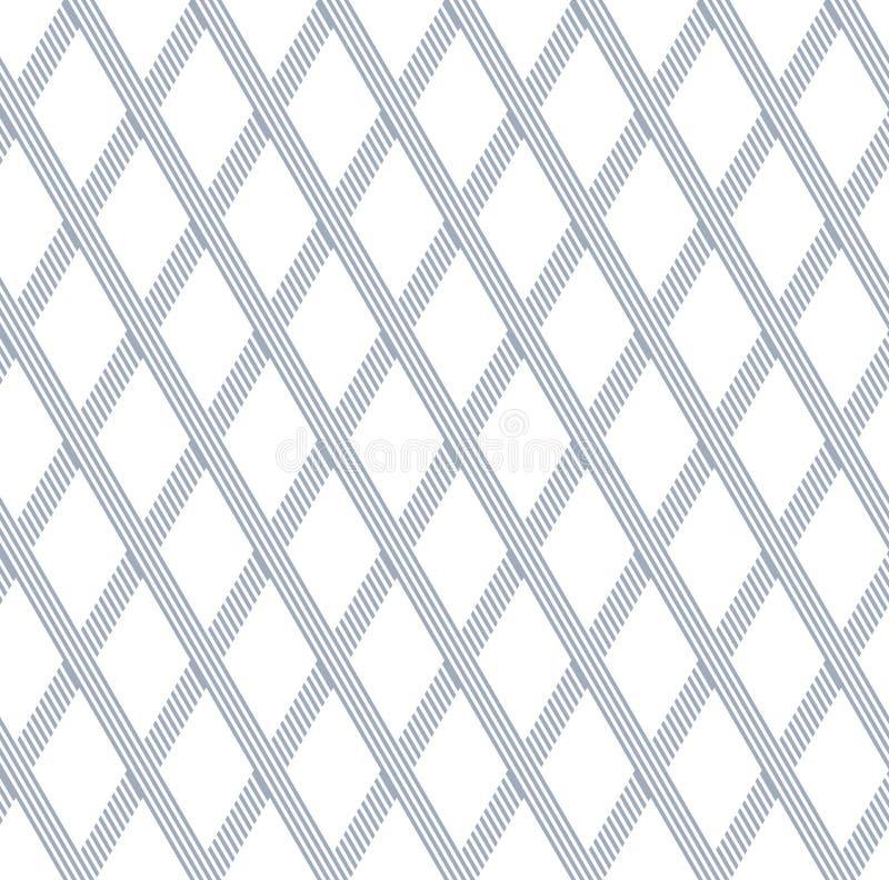 Sömlösa diamanter latticed modell vektor illustrationer