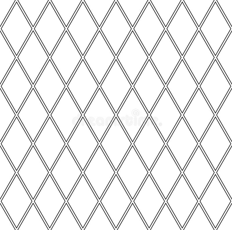 Sömlösa diamantmodeller Geometrisk latticed textur vektor illustrationer