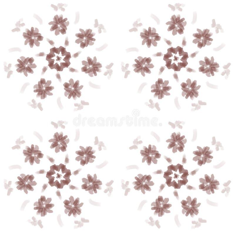 Sömlösa enkla blommor för modellbruntcirkel vektor illustrationer
