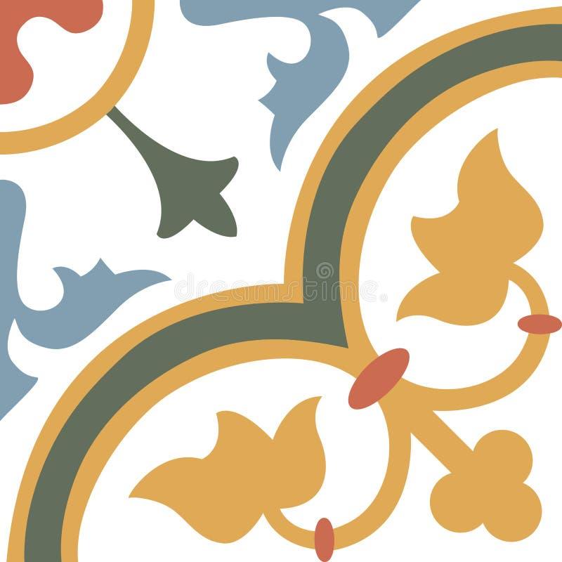 Sömlösa färgglade prydnadtegelplattor vektor illustrationer
