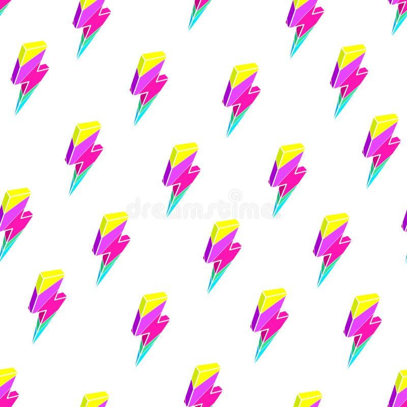 Sömlösa färgrika blixtar vektor illustrationer