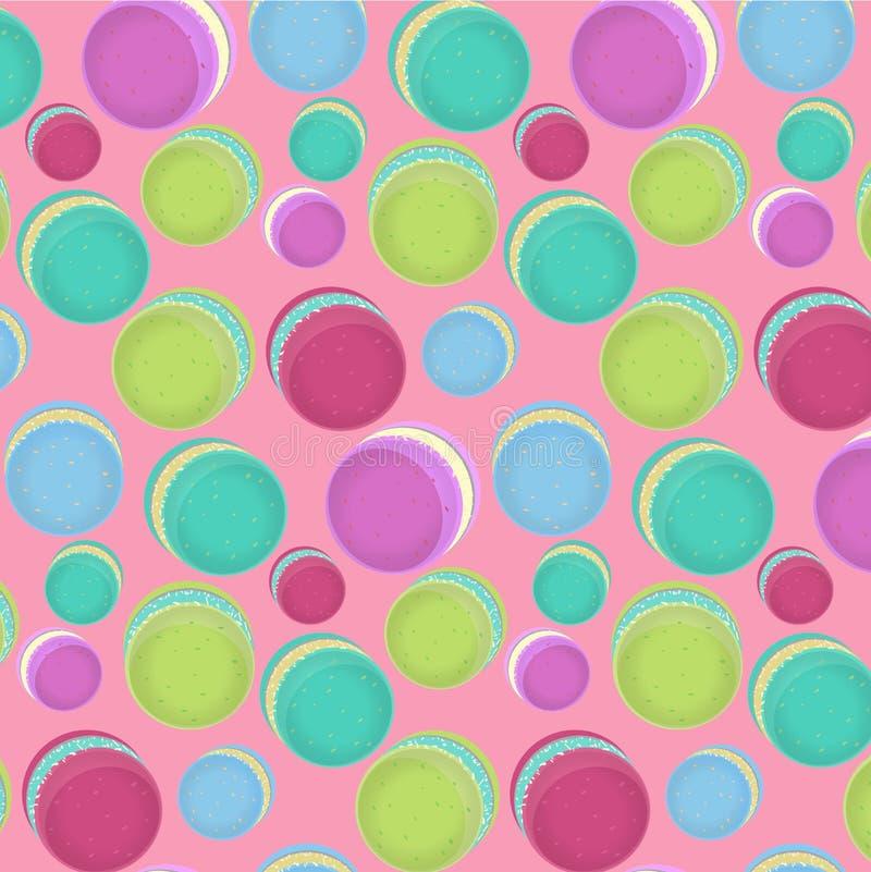 Sömlösa färgrika makron också vektor för coreldrawillustration royaltyfri illustrationer