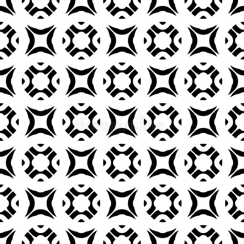 Sömlösa för svart & vita för vektor geometriska diagram för textur, vektor illustrationer